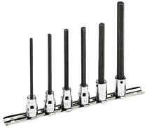 """Armstrong Tools 6 Piece 3/8"""" Dr. Extra Long Hex Socket Sets"""