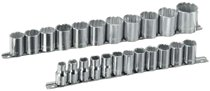 "Armstrong Tools 23 Piece 1/2"" Dr. Socket Sets"