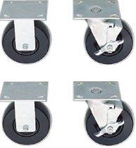 Standard-Duty Roller Cabinet Caster Sets