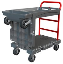 Rubbermaid Commercial Convertible Platform Trucks