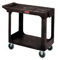 Rubbermaid Commercial Flat Shelf Carts
