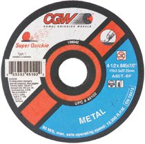 CGW Abrasives Super Quickie Cut™ Reinforced Cut-Off Wheels