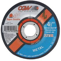 CGW Abrasives Super Quickie Cut™ Depressed Center Wheels, Type 27