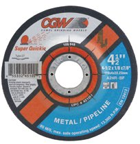 CGW Abrasives Super Quickie Cut™ Depressed Center Wheels, Pipeline