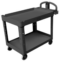 Rubbermaid Commercial Heavy-Duty Lipped Shelves Utility Carts