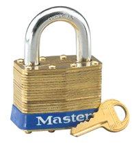 Master Lock No. 4 Laminated Brass Pin Tumbler Padlocks