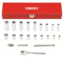 "Proto® Torqueplus™ 6-Point 3/8"" Drive Tool Socket Sets"