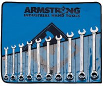 Armstrong Tools 10 Pc. Metric Geared Reversible Wrench Sets