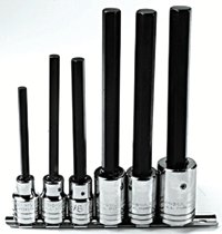 Proto® 6 Piece Extra-Long Hex Bit Socket Sets