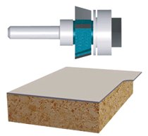 Bosch Power Tools Carbide-Tipped Ball Bearing Pilot Laminate Trimmer Assembly Router Bits