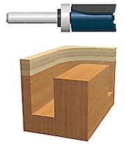 Bosch Power Tools Carbide-Tipped Top Bearing Mounted Straight Router Bits