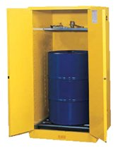 Yellow Vertical Drum Safety Cabinets