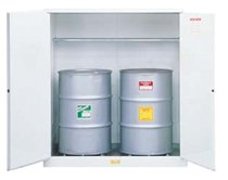 White Drum Cabinets for Flammable Waste