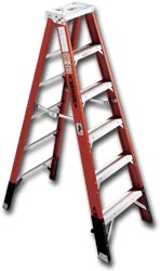 EXTRA HEAVY DUTY FIBERGLASS STEPLADDER