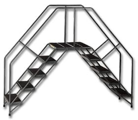 PORTABLE CROSSOVERS WITH STAIRWAY SLOPE