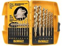 DeWalt® Pilot Point® Gold Ferrous Oxide Drill Bit Sets