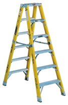 Louisville Ladder® FM1100HD Series Rhino 375™ Twin Front Fiberglass Mechanic Step Ladders
