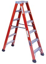 Louisville Ladder® FM1400HD Series Brute™ 375 Twin Front Fiberglass Ladders