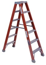 Louisville Ladder® FM1500 Series Fiberglass Twin Front Ladders