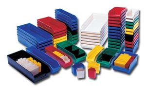 ECONOMY SHELF PLASTIC BINS