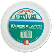 AJM Uncoated Paper Plates