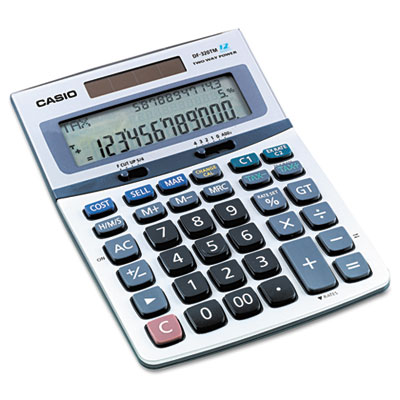 Casio® DF320TM 3-Line Business Desktop Calculator