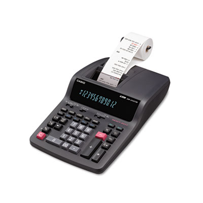Casio® DR-210TM Two-Color Desktop Printing Calculator