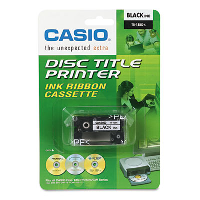Casio® TR18BU, TR18BK Thermal Ink Ribbons