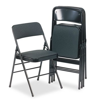 Cosco® Deluxe Fabric Padded Seat and Back Folding Chair