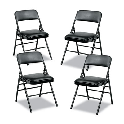 Cosco® Deluxe Vinyl Padded Series Folding Chair