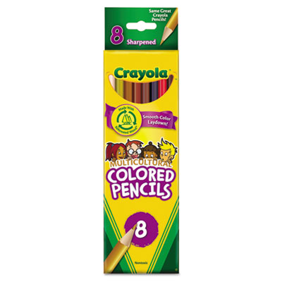Crayola® Multicultural Eight-Color Pencil Pack