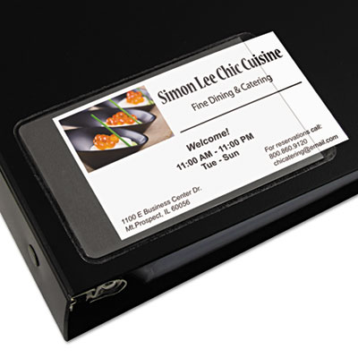 C-Line® Self-Adhesive Business Card Holders