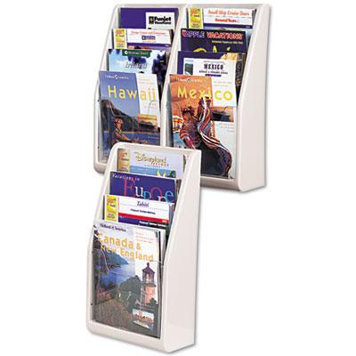 deflecto® Multi-Tiered Desktop or Wall-Mount Literature Holders
