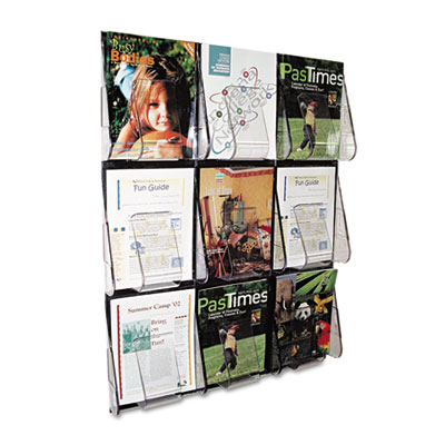 deflecto® Stand Tall® Multi-Pocket Wall-Mount Literature Systems