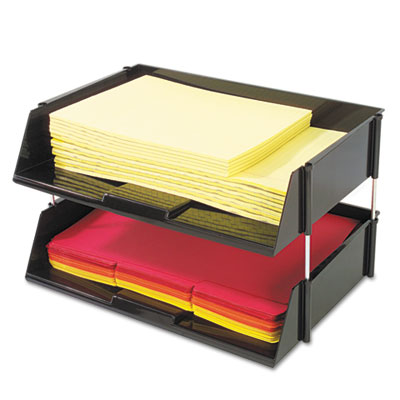 deflecto® Industrial Tray™ Side Loading Stacking Tray Set