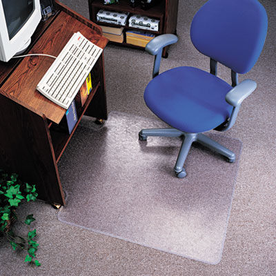 deflect-o® EconoMat® Nonstudded, No Bevel Chair Mat for Low Pile Carpeting