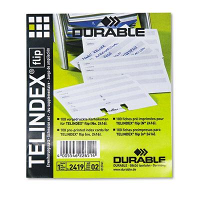 Durable® TELINDEX® Address Cards