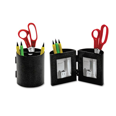 deflect-o® Pencil Cup with Photo Frames