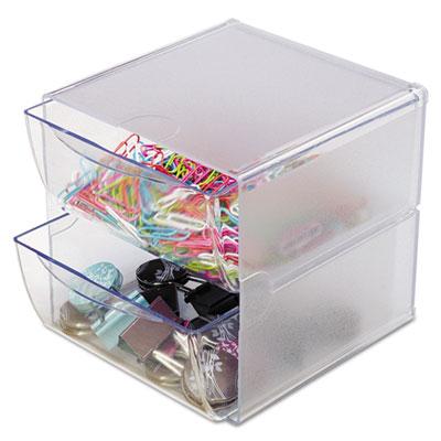 deflecto® Stackable Cube Desktop Organizer