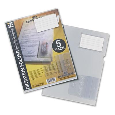 Durable® Micro-Cassette Dictation Folder