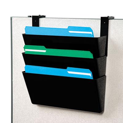 deflecto® DocuPocket® Stackable Three-Pocket Partition Wall Set
