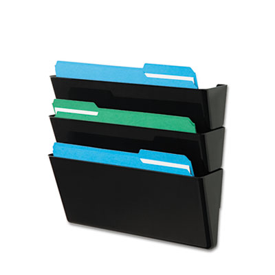 deflecto® DocuPocket® Stackable Three-Pocket Wall Set