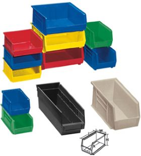 Plastic Parts Bins Stackable Bins Nationwide Industrial Supply