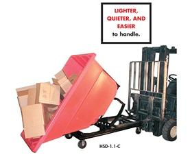 PLASTIC SELF DUMPING HOPPERS: 5/8 to 3 Cu Yds. 750 to 1700 (lbs)