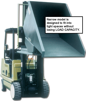2000 (lbs) 12 Ga. STEEL SELF DUMPING HOPPERS WITH OPTIONAL CASTERS AND LIDS: 0.25 to 4 Cu. Yds