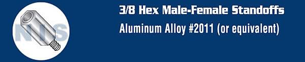 3/8 Hex Male Female Standoff Aluminum