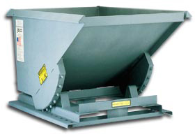 EXTRA HEAVY DUTY  SELF DUMPING HOPPER: 1 to 2 1/2 Cu Yd. with 4000 (lbs) Cap.