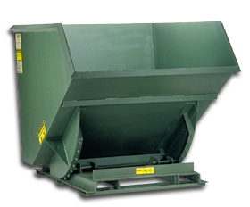 SUPER HEAVY DUTY 7 Ga. STEEL SELF DUMPING HOPPERS: 0.25 to 2.5 Cu. Yds, 4000 to 6000 (lbs)