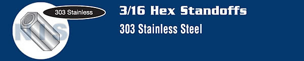 3/16 Hex Female Standoff Stainless Steel
