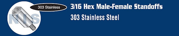 3/16 Hex Male Female Standoff Stainless Steel